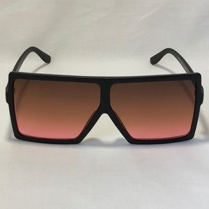 Other - Black/Red Oversize Square Lens Sunglasses